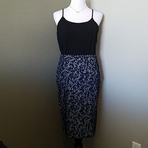 Navy blue and gray Michael Kros skirt